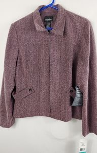 Positive Attitude pink & gray blazer size 16